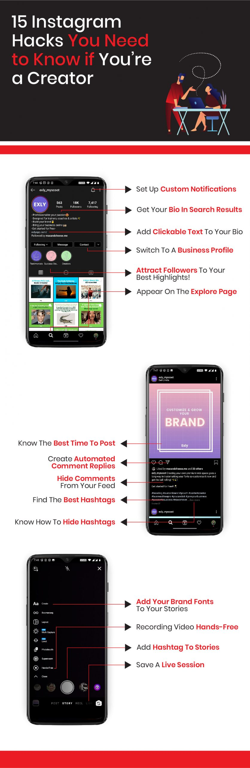 15 Instagram Hacks You Need to know if You're a Creator [Infographic]